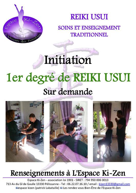Formation 1er degré Reiki Usui Aix en provence Salon de provence Lambesc Vitrolles Avignon PACA Bouches du rhone