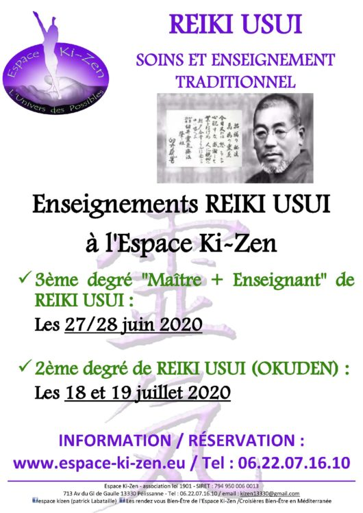 stage Reiki Usui Aix en provence Salon de provence Lambesc Avignon PACA Bouches du Rhône