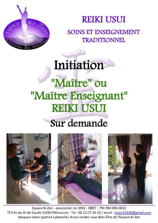 Stage maitre ou maitre enseignant Reiki Usui Aix en provence Salon de provence Lambesc Avignon PACA Bouches du Rhone